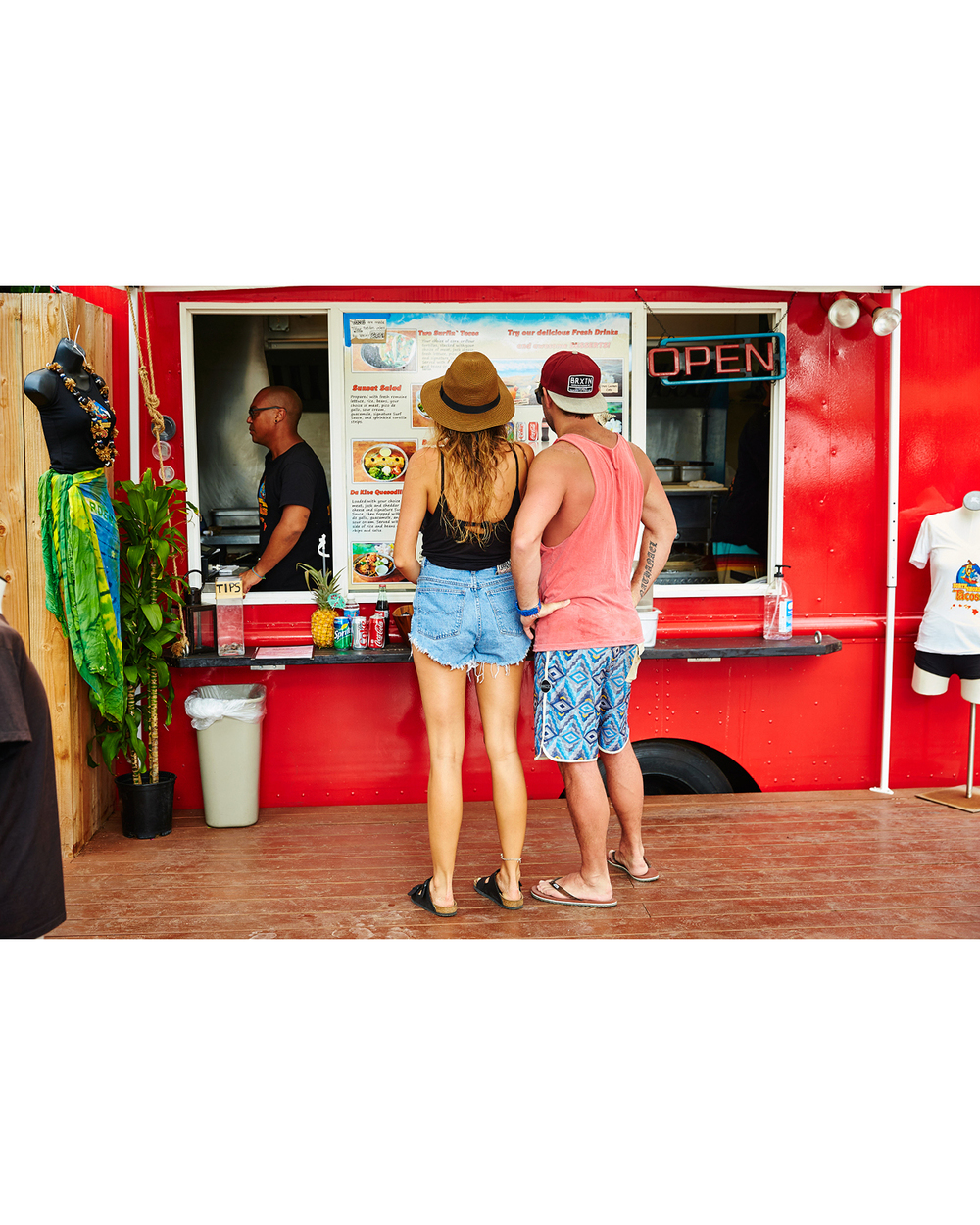 ORDERING SOME TACOS AND BEER