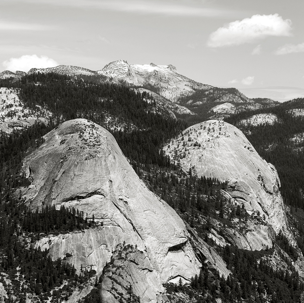 GRANITE DOMES AS SEEN FROM HALF DOME