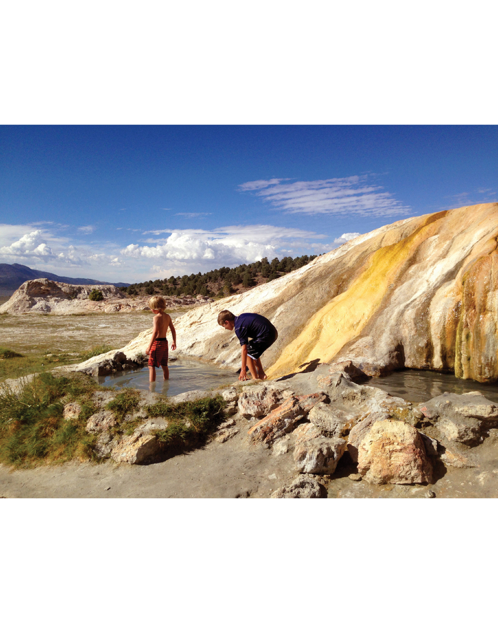 TRAVERTINE HOT SPRINGS OUTSIDE OF BRIDGEPORT