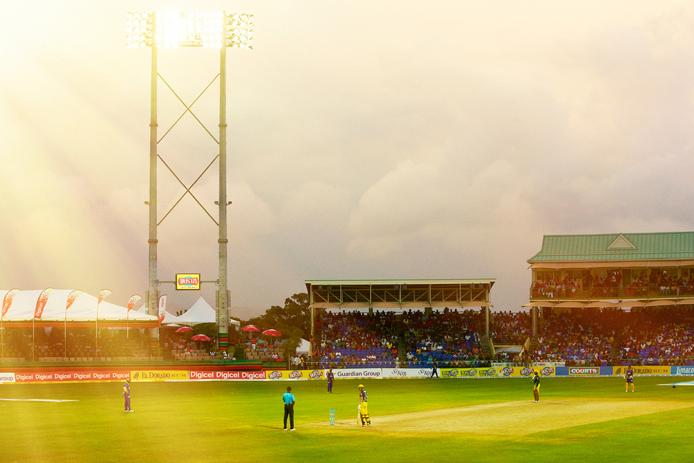 CRICKET MATCH AT WARNER PARK STADIUM IN BASSETERRE