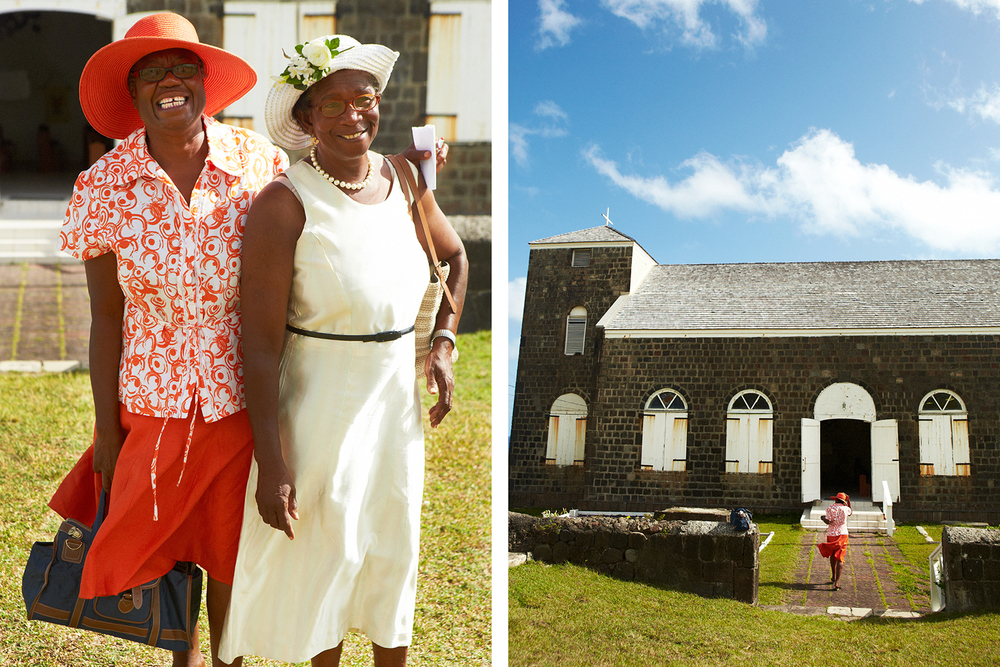 KITTITIAN CHURCH LADIES IN THEIR SUNDAY BEST