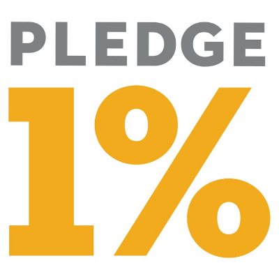 pledge 1% is a pledge to provide 1% of our time, 1% of our profits and 1% of our services to charity