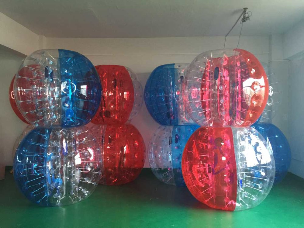 Bubble Soccer Suits stacked