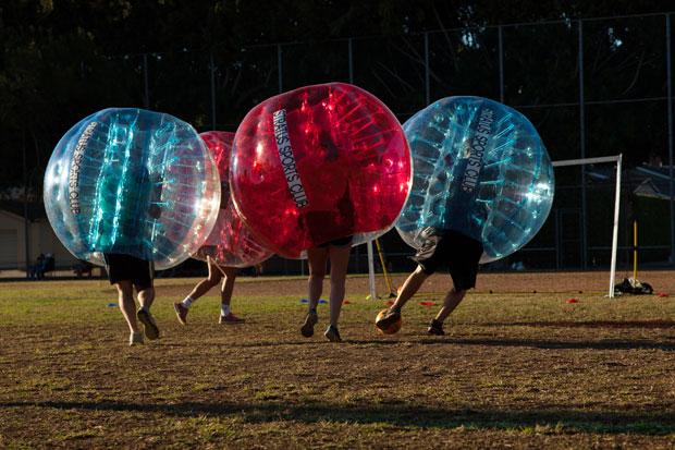 Score a Bubble Soccer Goal