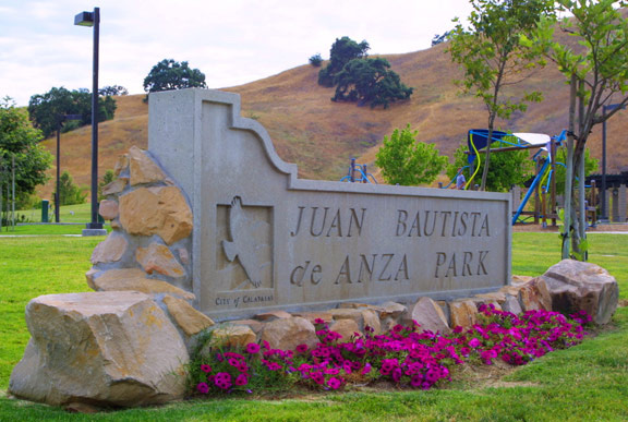 Beautiful Juan Bautista Park sign