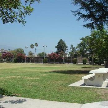Beautiful Grant Park in Pasadena has luscious  grass