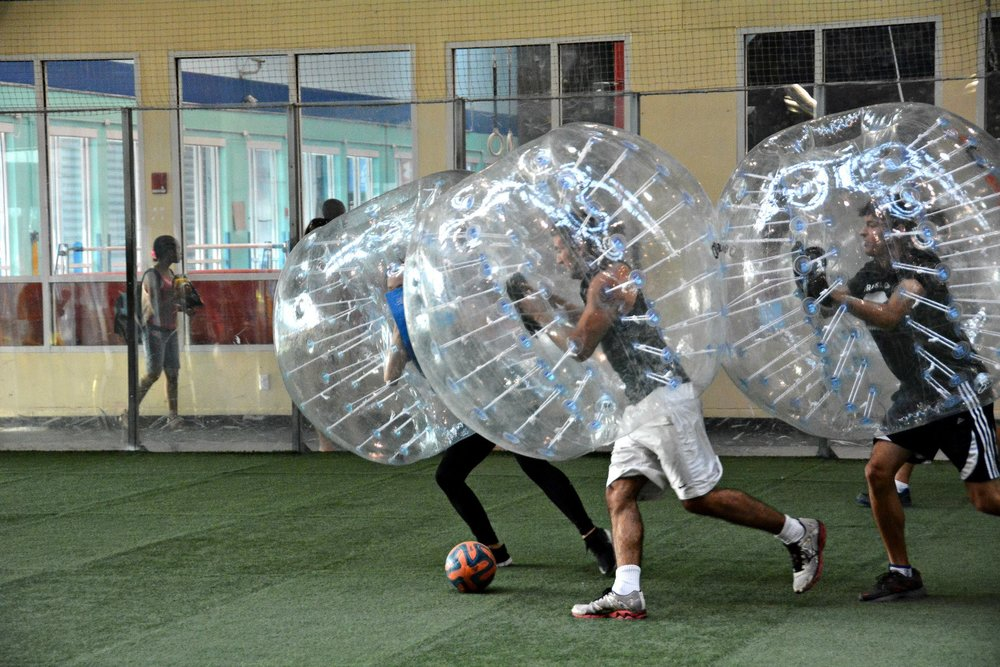 Play Indoor Bubble Soccer in Los Angeles today!