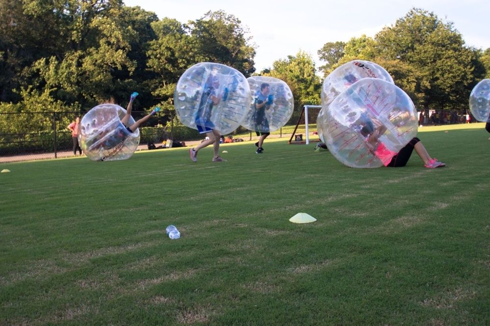Knockerball game is on!