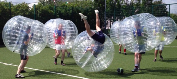 Zorb Soccer and Bubble Ball game