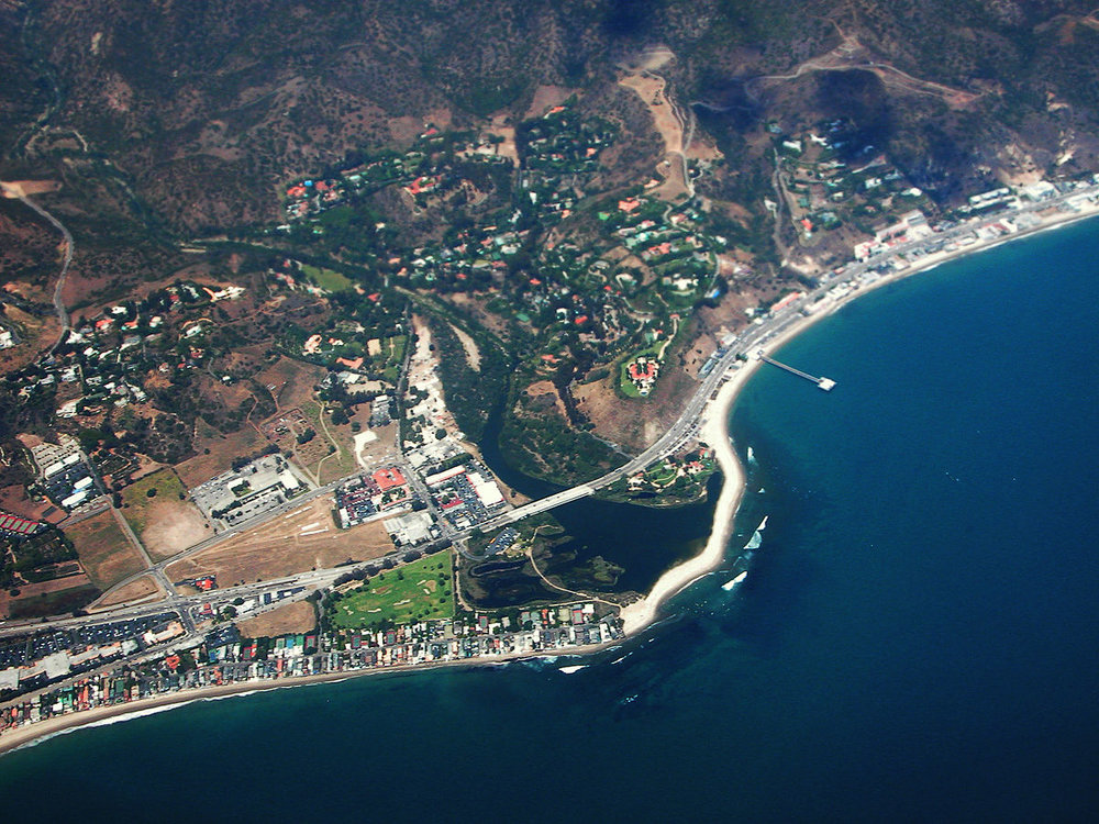 Bird Eye view of Malibu