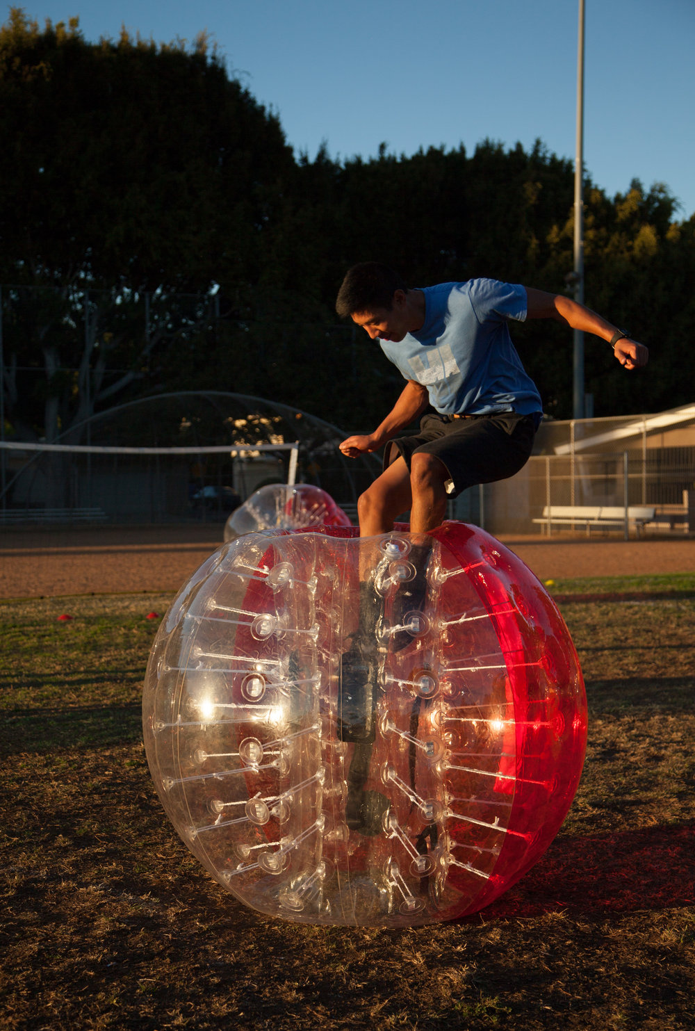 Jump into a bubble suit in burbank