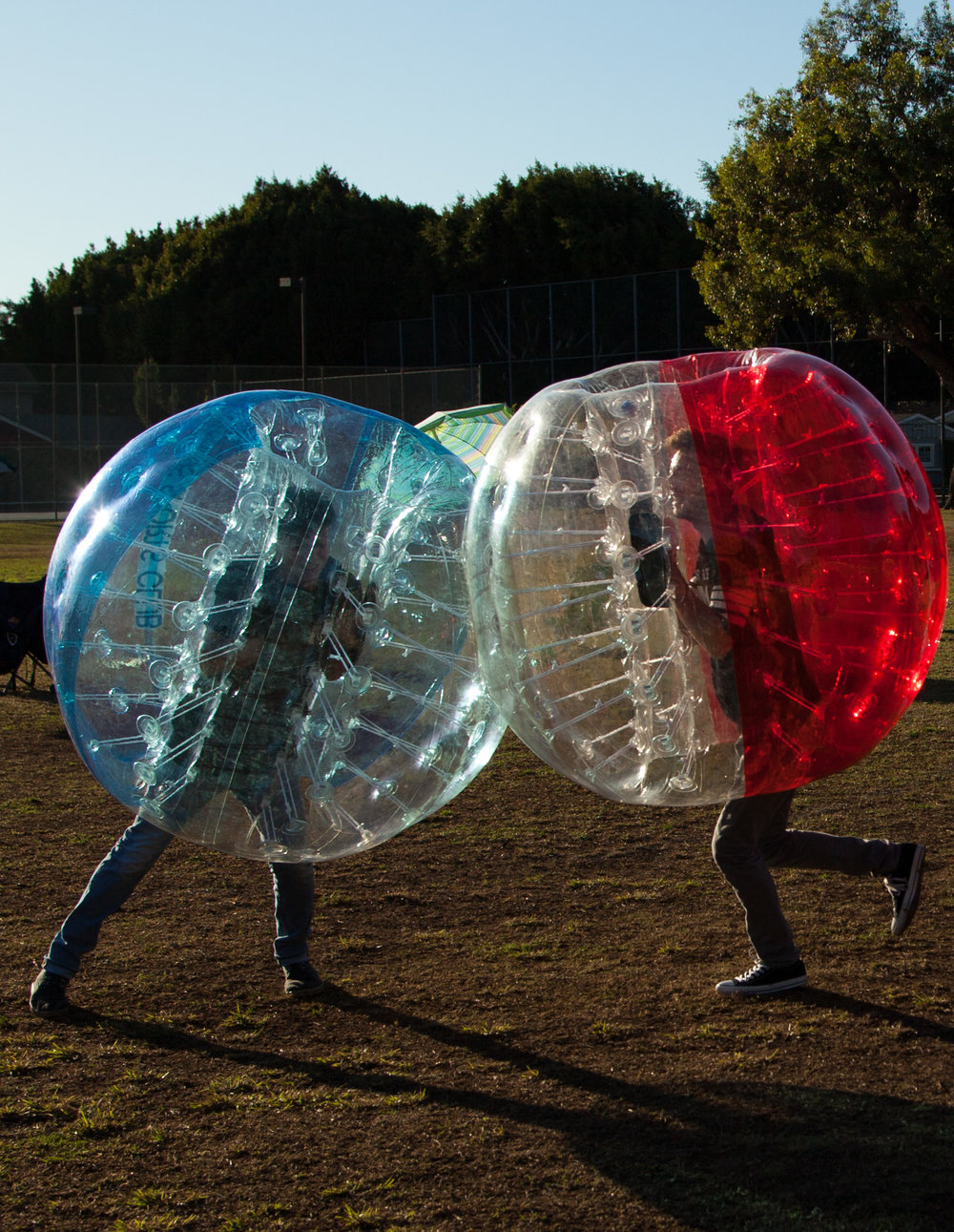 Book Bubble Soccer Rental Manhattan Beach standoff