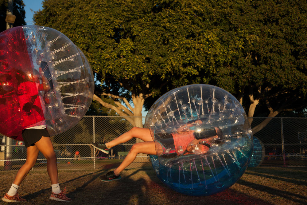 Get bumped over bubble soccer party west hollywood