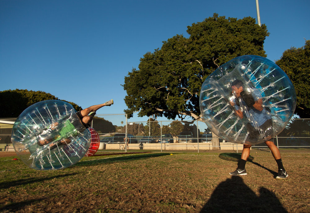 West LA Bubble Soccer Party is the best way to play