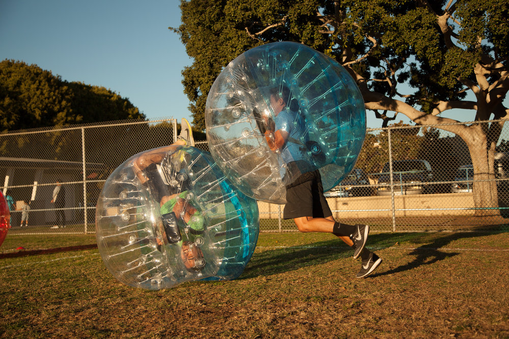 fun with bubble soccer suits ranchos palos verdes estates