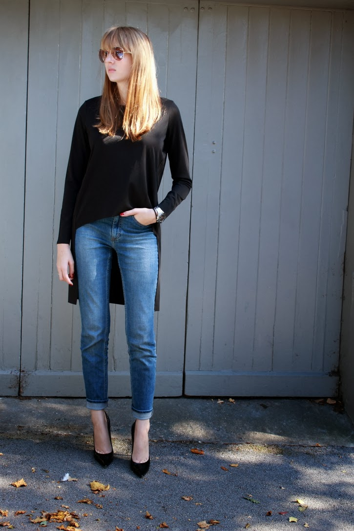 COS denim and Top, Jimmy Choo Anouk
