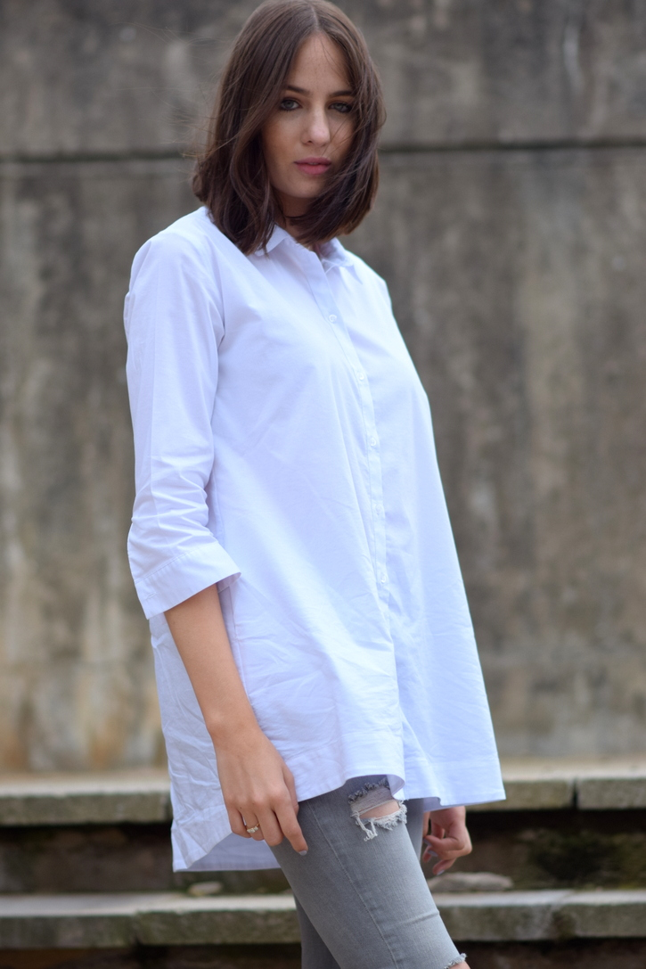 How To Style and oversized white shirt