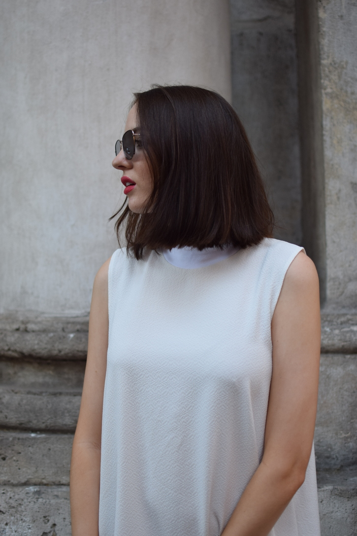 White high necked dress