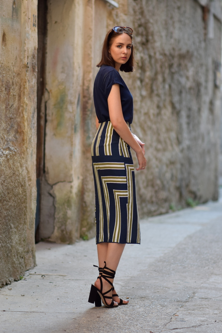 Printed midi skirt for holidays