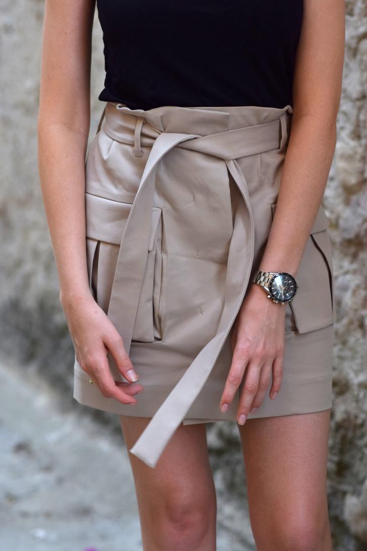 Tie Waist utility skirt