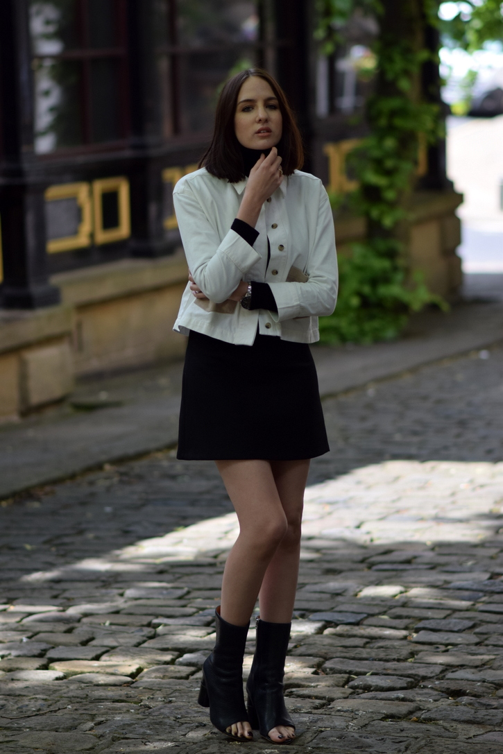 Black A-Line Mini Skirt Zara