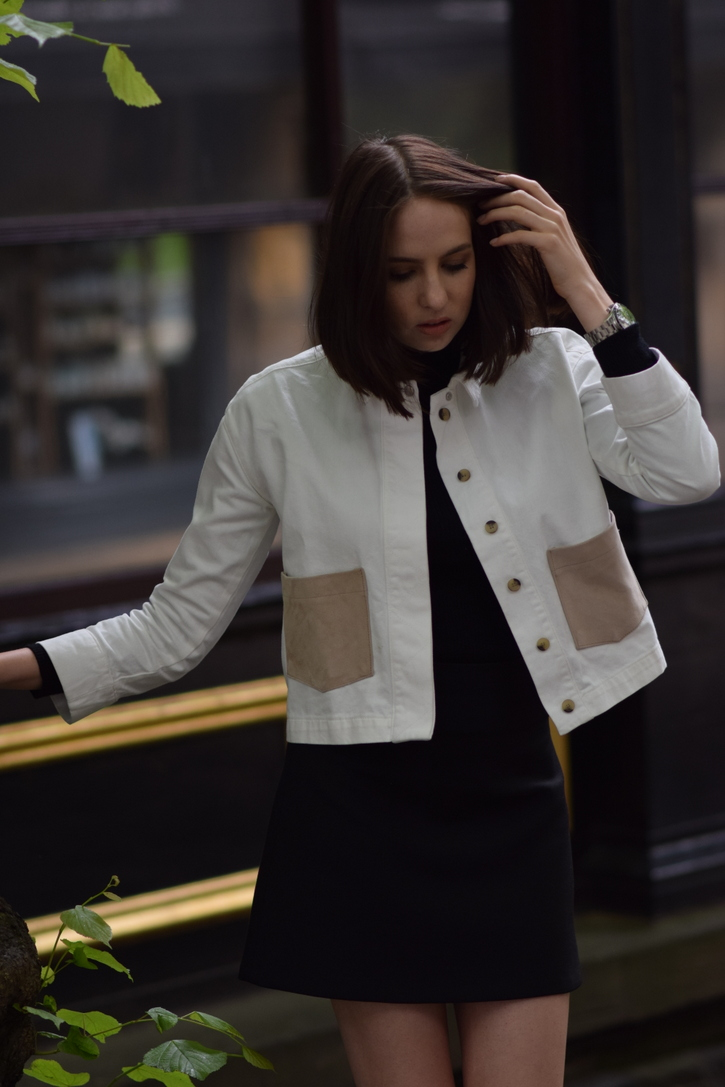 Topshop White Denim Jacket