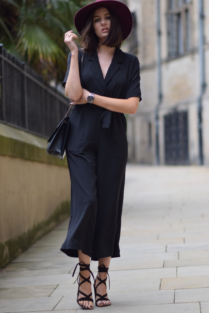 Black wide legged jumpsuit for summer