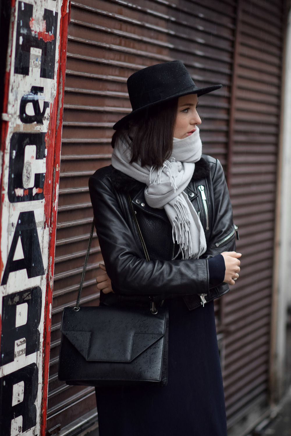 Saint Laurent betty bag on fashion blogger winter style
