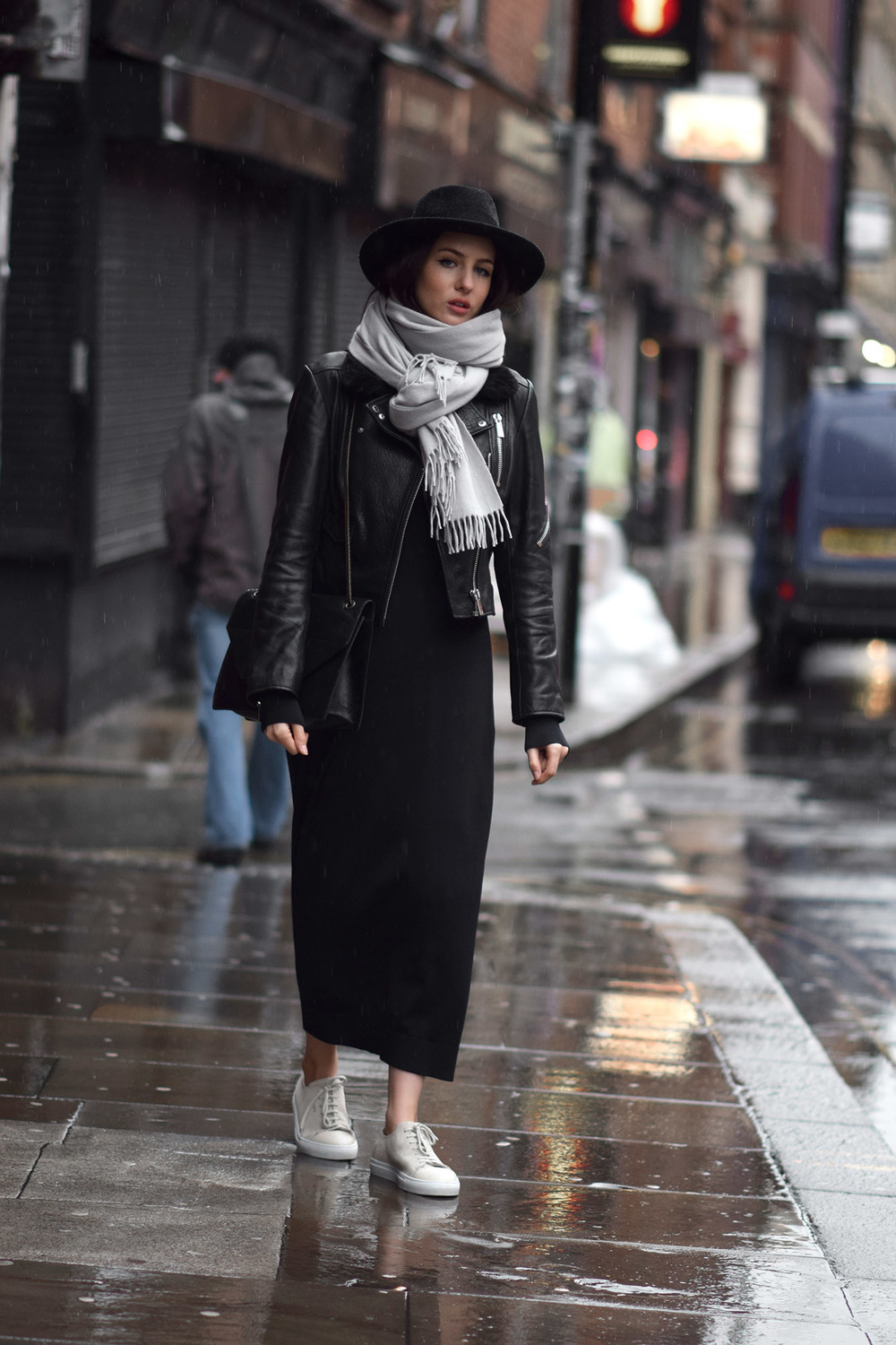 Midi knitted dress for winter UK fashion blog