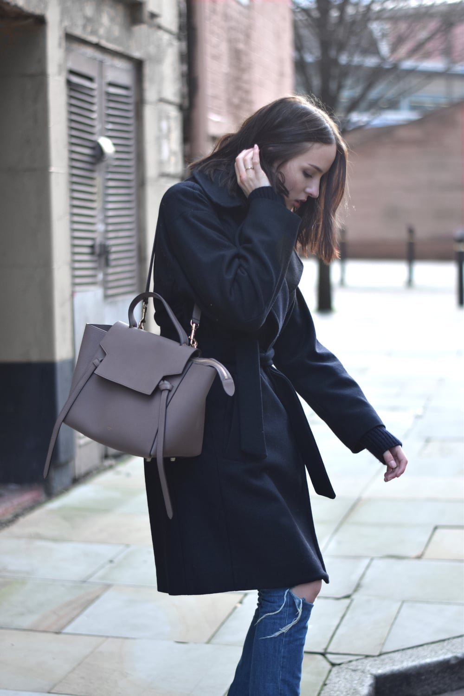 All Saints Miya coat UK blogger