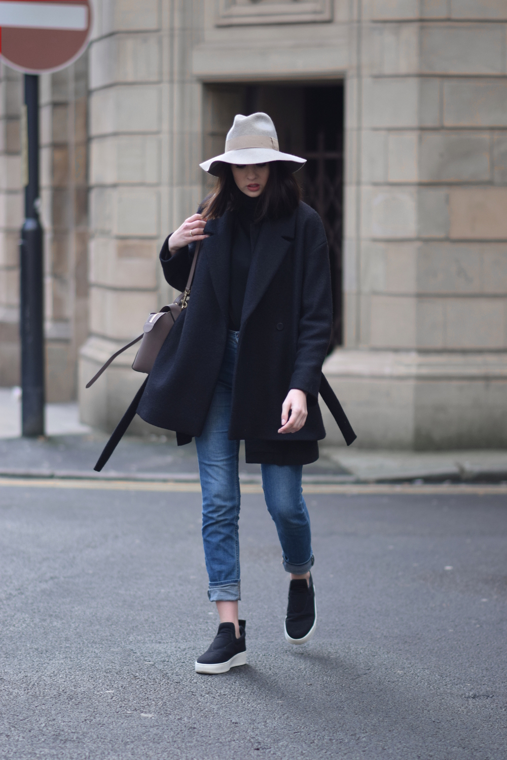 Minimal style blogger Shot From The Street