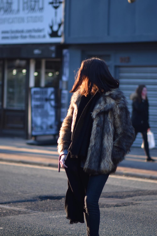 Faux Fur ASOS Coat Fashion Blog