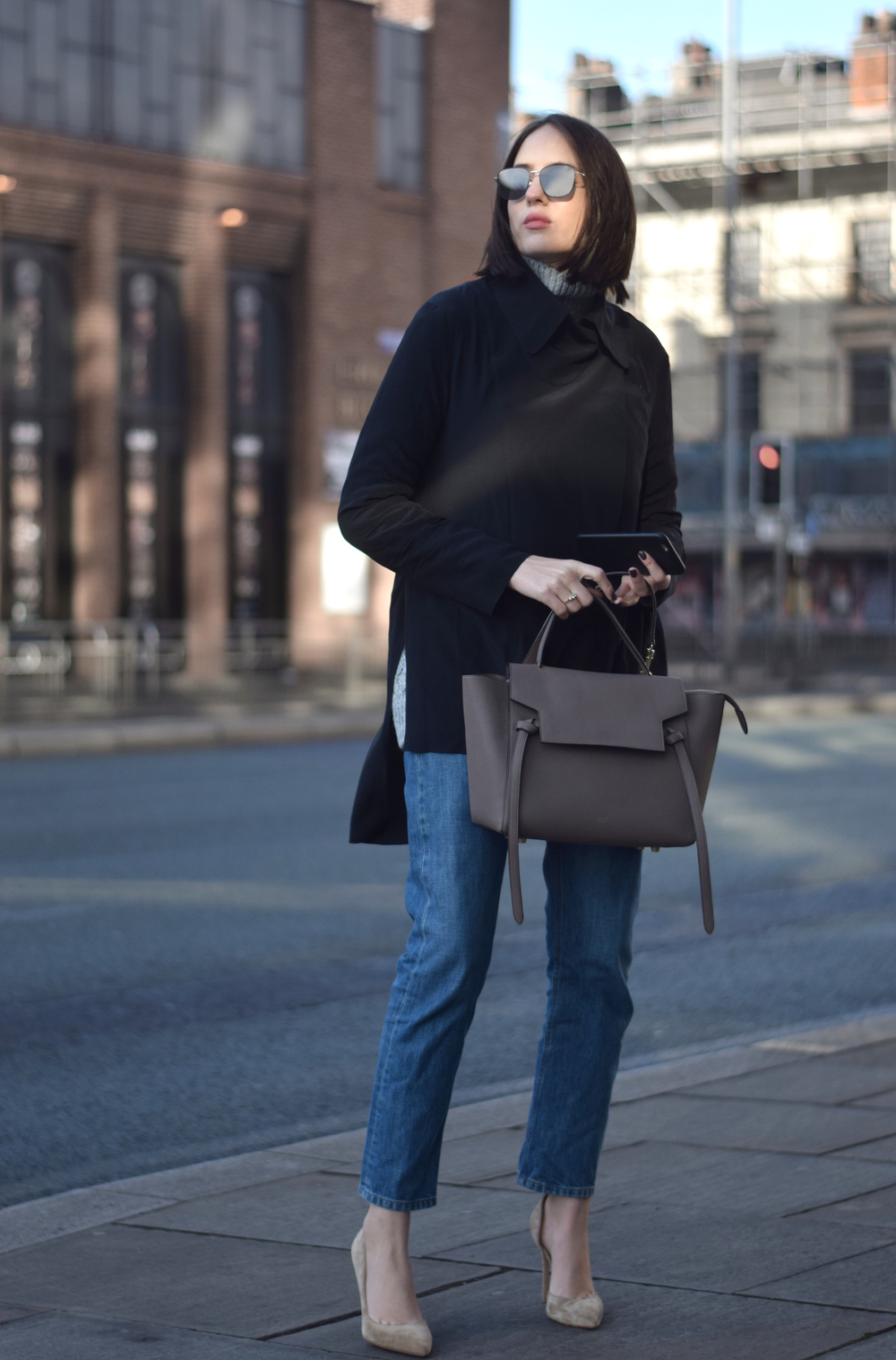 Celine Taupe Belt Bag