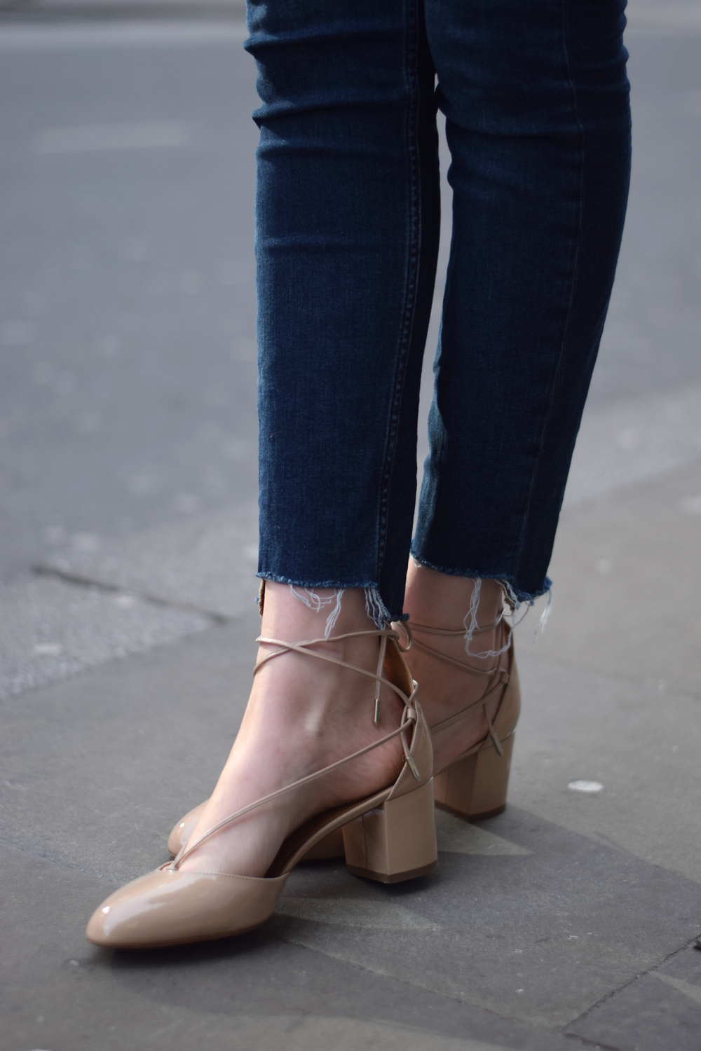 Aquazurra Alexa Nude Pumps