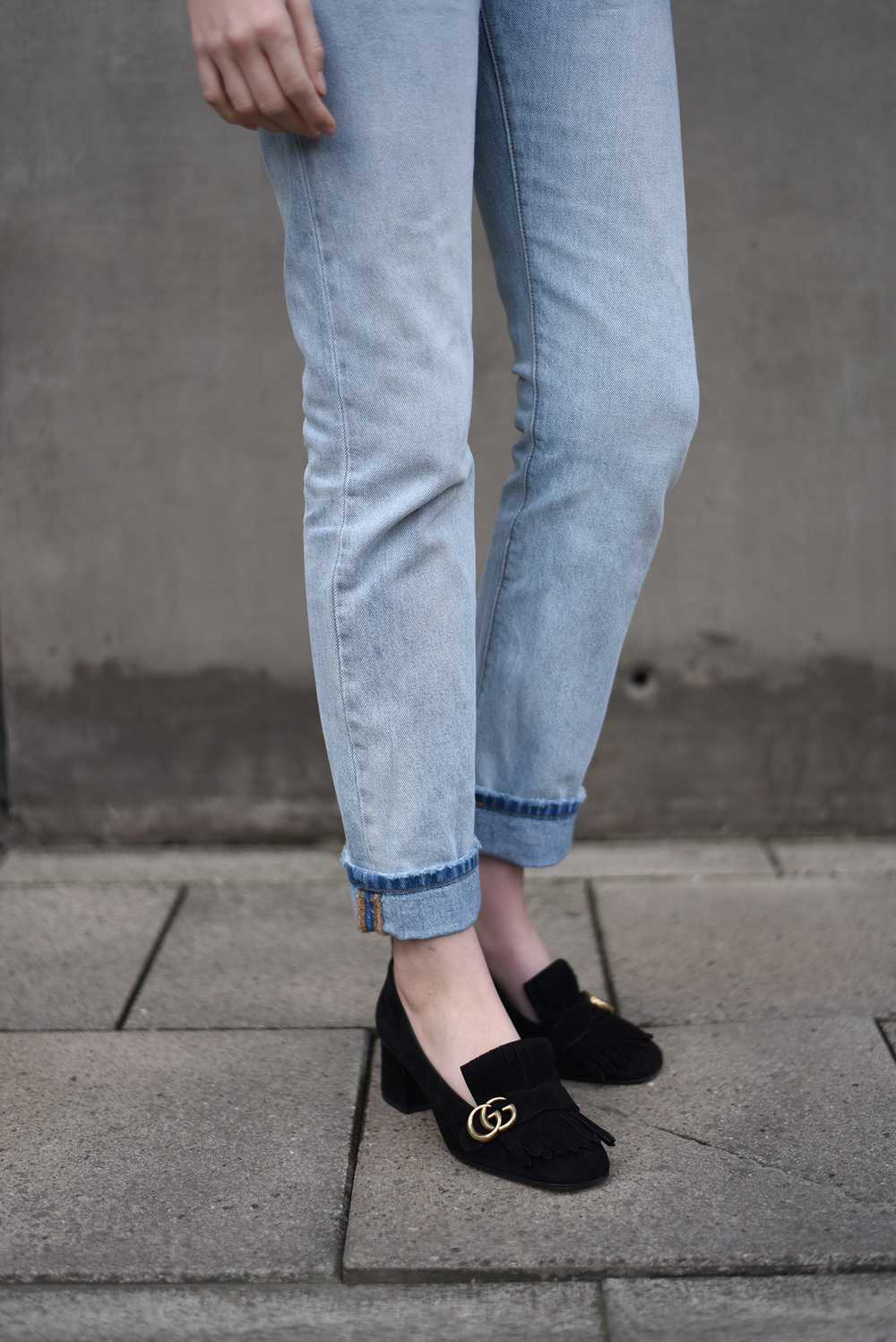 ae7060924e7 Gucci Suede Mid Heel Pump — SHOT FROM THE STREET
