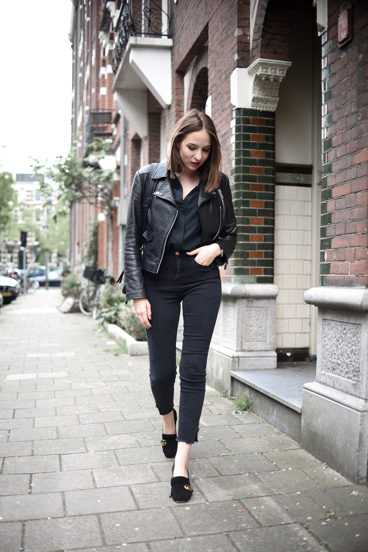 Leather jacket jigsaw - Trousers Brandy Melville Top C O Keepsake The Label Shoes Gucci Jacket C O Jigsaw