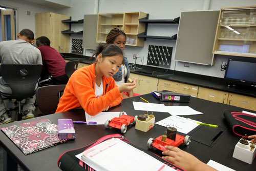 Buford's STEM-based curriculum integrates engineering design into each of the science classrooms