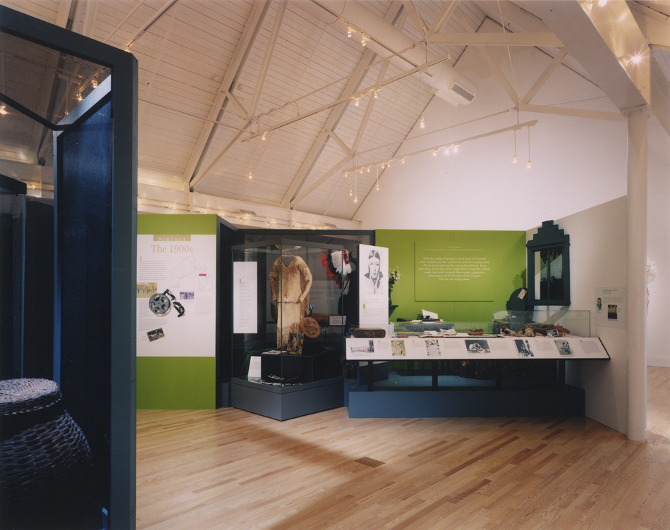 Exhibits within the controlled environment of the new museum gallery.