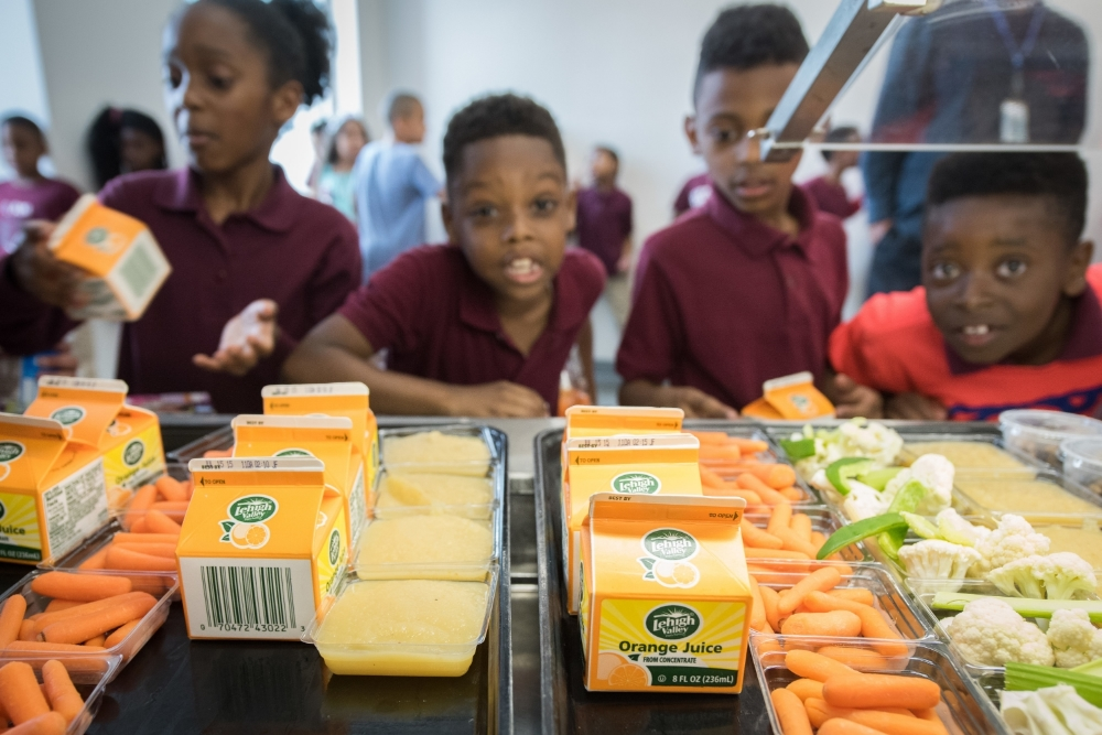 Fresh and healthy meals are delivered to several remote serveries throughout the school, allowing students to dine in their own commons area.