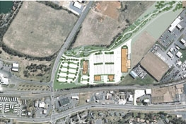 The admin build effectively separates public areas and employee parking from the operations and vehicle storage areas