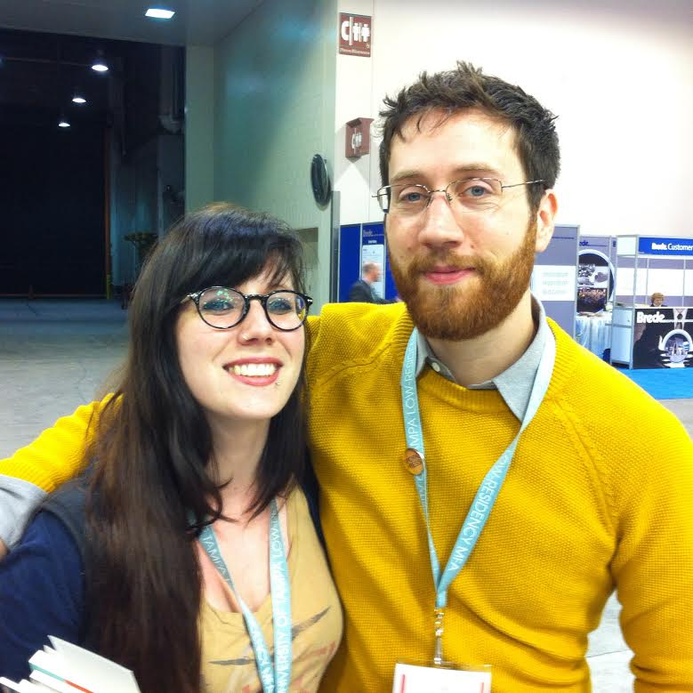 AWP buddies. (w/ Colin Winnette)