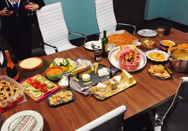 Part of the spread from Swash Labs Inaugural Cheesegiving.  Photo Credit: Andi Harman