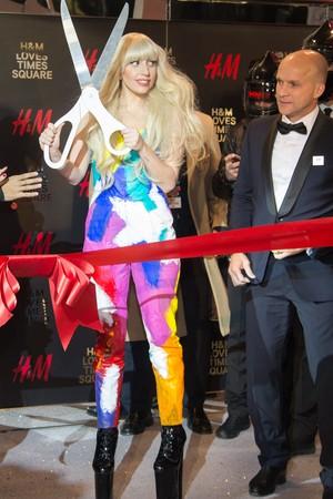 lady gaga H&M ribbon cutting.jpg