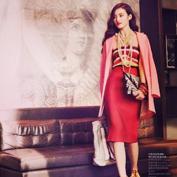 Above: A-Morir x Mata Hari zebra iPad clutch in Vogue China