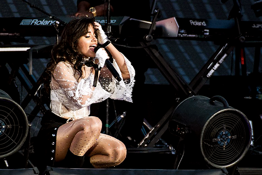 - A-Morir Studio was commissioned to create and customize an outfit for Camila Cabello's tour with Taylor Swift.A-Morir designed and created the tights, belt, gloves velvet and crystal pant trim and shoes for Camila's tour look, and crystalized her lace top.Performance shots and product shots below. Styled by Jennifer Mazur.