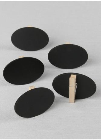 Oval Chalkboard Clips