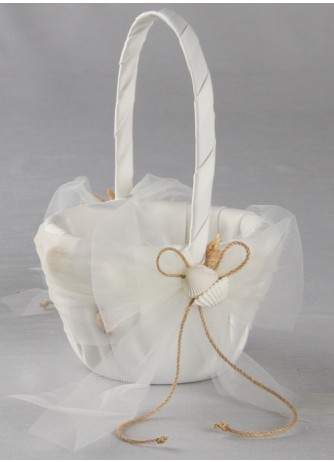 Beach Theme Flower Girl Basket