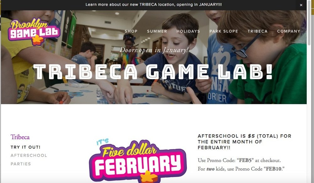 - Visit Brooklyn Game Labs, Tribeca at https://brooklyngamelab.com/tribeca/