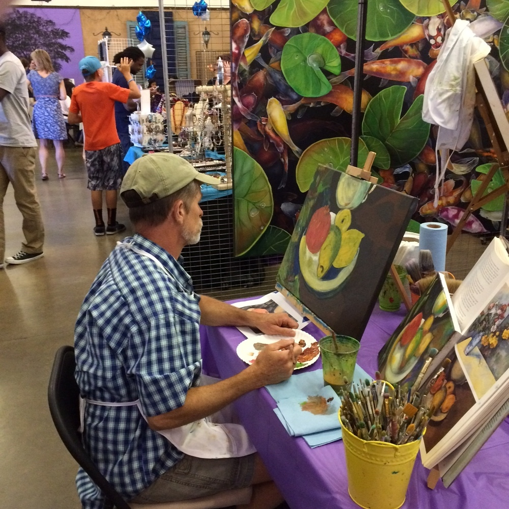 Artist at the 2016 Art Expo