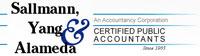 Sallmann, Yang, & Alameda Certified Public Accounts A/C Site 4900 Hopyard Rd. Ste 183 Pleasanton, CA 94588 (925) 426-7744